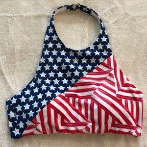 Victoria's Secret American Flag Bikini Top